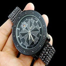 Real Diamond Black Gold Finish JoJino/Joe Rodeo 3 Row Bezel Custom 7 Row Watch