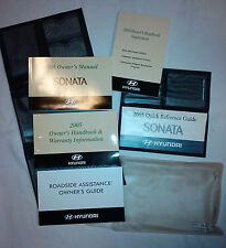 Excellent 2005 Hyundai Sonata Owner's Manual Booklet Set with Leatherette Cover