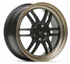 "ULTRALITE F1 17"" x 7.5J ET42 5x114.3 BLACK BRONZE ALLOY WHEELS RPF1 STYLE Y3200"