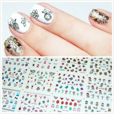 1 Big Sheet 3D Nail Art Transfer Sticker Decals Animals Egg Balloon Decoration