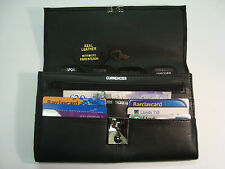 Leather travel document WALLET PORTAOGGETTI CON SERRATURA per passaporto, ecc.