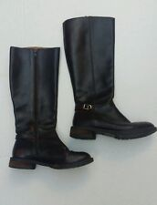 J. Crew Women's Distressed Brown Leather Riding Boots 7.5M