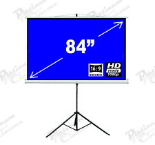 "New 84"" Portable Tripod Projection Screen home cinema Projector Matt White 16:9"