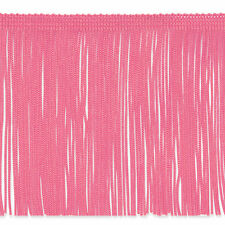 """By the Yard 6"""" Pink Chainette Fabric Fringe Lampshade Lamp Costume Trim"""
