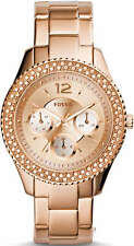 Women's Rose Gold Tone Fossil Stella Multi-Function Watch ES3590