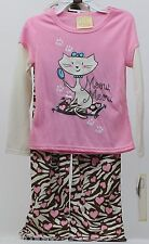 Sweet Heart Rose Pink Meow Sleepwear PJ's Matching Doll 18 inch Size 5 NWT