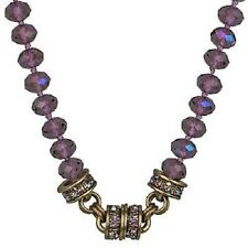 NEW KIRKS FOLLY TIMELESS CRYSTAL  BEAD MAGNETIC NECKLACE BT/PURPLE PASSION