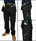 Mens Work Trousers Heavy Duty Triple Stitch Trade Work Combat Trousers Pants.