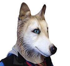 Siberian Husky Mask Wolf Dog Latex Animal Fancy Dress Canine Halloween Masks