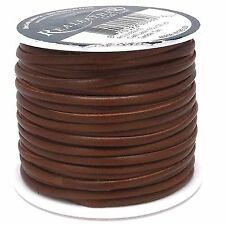 "Superior Leather Lace Saddle Tan 1/8"" x 50 Yards by Real Leather 01850-03"
