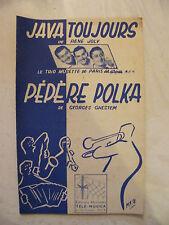 Partition Java Toujours Trio Musette de Paris Pépère Polka Ghestem