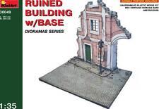 MiniArt Ruines avec Road Diorama Plaque de base 1:35 ruiné Bâtiment modèle-kit