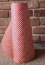 "Vtg Retro 18"" Bulk Roll St. Clair Christmas Red White Snowflake Wrapping Paper"