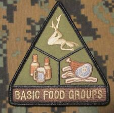 BASIC FOOD GROUPS USA ARMY MORALE TACTICAL  FOREST VELCRO® BRAND FASTENER PATCH