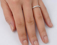 Silver Clear CZ Thin Ring Sterling Silver 925 Best Deal Jewelry Gift Size 7