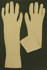 Gloves - Cotton Gloves - 2 Pair - US Military Surplus / New - Beige / Off White