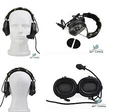 Sordin Headset Cuffia Radio Airsoft Softair Communication Woodland  Z 111 comtac