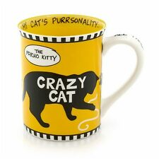 "Our Name is Mud ""Crazy Cat"" Large Stoneware Cat Mug"