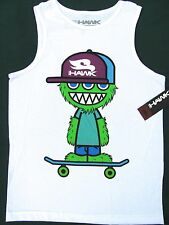 TONY HAWK SLEEVELESS T- SHIRT SEAMLESS SKATER MONSTER SKATE BOARD BLUE GREEN S