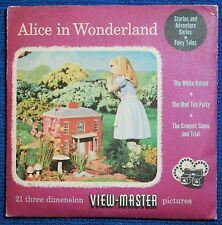 Alice In Wonderland 3-reel Set - UNOPENED - Sawyers View-Master S3 - Excellent