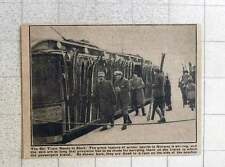 1923 Norwegian Ski Train Skis Fixed On Rack Side Of Coach
