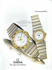 ▬► PUBLICITE ADVERTISING AD MONTRE WATCH OMEGA Constellation 1992