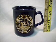 Vintage Horry Georgetown Technical college university school Coffee Cup gold NOS