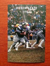 CFB 1982 WEBER STATE Football Schedule College FB 82