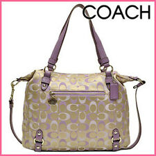 NWTCoach 17580  3 Color Signature Alexandra Bag Purse Khaki Lilac SV/Lilac Multi
