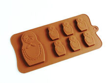 6+1 Russian Doll Matryoshka Babushka Chocolate Candy Silicone Bakeware Mould