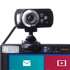 USB 50 Megapixel HD Webcam Web Cam Camera & Microfono Mic 3 LED PC Laptop Skype