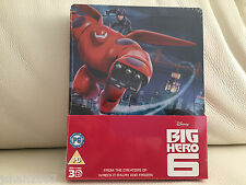 DISNEY BIG HERO 6 Zavvi esclusivo 3D STEELBOOK BLU RAY ** NUOVO **