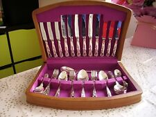 Kings Cutlery Canteen 51 pieces Silver Plate EPNS A1 Smith Seymour Sheffield