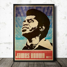 James Brown Art Poster Music Jazz Soul Blue Note Funk Gil Scott Heron