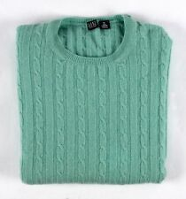 SAK'S FIFTH AVE 100% CASHMERE Cable Knit Sweater - Made In SCOTLAND - XL - NICE!