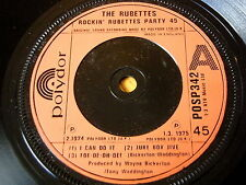 "THE RUBETTES - ROCKIN' RUBETTES PARTY 45  7"" VINYL"
