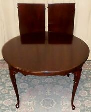 HICKORY CHAIR ROUND TO OVAL DINING TABLE Mahogany 2 Extension Leaves #551-51