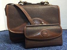 Vintage Dooney & Bourke~AWL~BROWN Carrier B701 Shoulder Bag-&Wallet*Handbag*1002