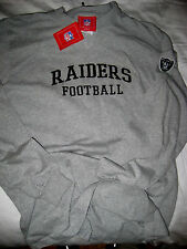 OAKLAND RAIDERS NFL EMBROIDERED LOGOS LIGHT COTTON JERSEY CREW SHIRT- NWT- M