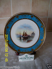 Minton Porcelain Turquoise Jeweled Gilt Handpainted Cabinet Plate #6