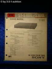 Sony Service Manual ST S100L / S300L Tuner (#0616)