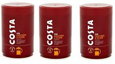 3 x Costa Roast and Ground Coffee 250g, Full Flavour Blend
