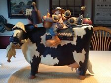 "Williraye - ""Country Fair or Bust"" - Girl and Friends Riding a Cow - 7621 - NIB"