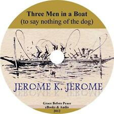 Three Men in a Boat, Audiobook Jerome K Jerome English on 6 Audio CDs Free Ship
