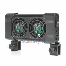 Cooling Fan (2 fans) Aquarium Chillers 80L Fish Tank+Power adapter 12V Low Noise