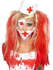 Infirmière Kit Zombie Masque Coiffe Bandeau Oeil Halloween Déguisement Robe