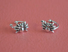 925 Sterling Silver Spider Ear Cuff - No Piercing Earring Clip On, SpiderEar Pin
