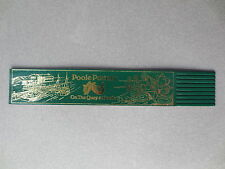 BOOKMARK LEATHER Poole Pottery On the Quay Dorset Green Gold UNUSED
