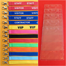 5  X Lanyard Safety Clip Red blue Black Pink VIP Pass Ticket Holder Birthday
