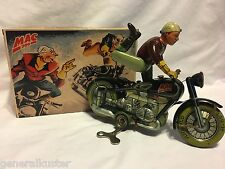 """1940's ARNOLD """"BLACK"""" MAC700 MOTORCYCLE with REPRODUCTION GERMAN BOX - NICE!"""